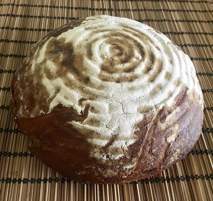 Kváskový celožitný chleba