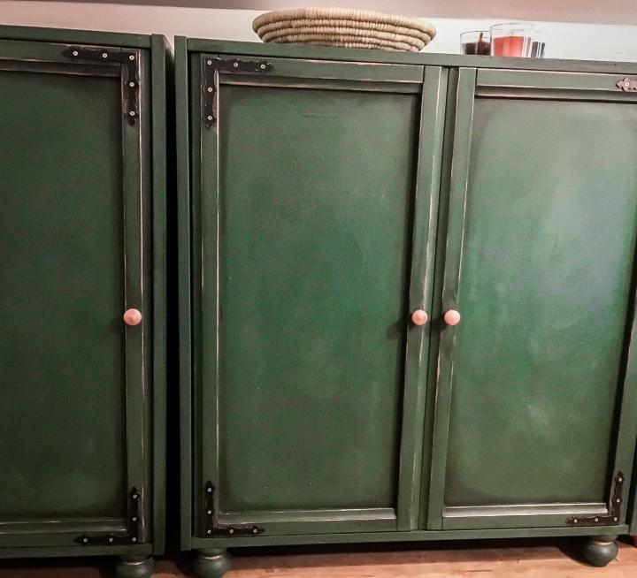 DIY vintage renovaceskříněk